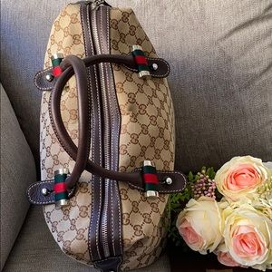 Authentic Gucci weekender bag